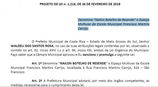 O PL n° 1.216, de autoria do Executivo municipal, foi aprovado por unanimidade de votos pelos vereadores costarriquenses. (Foto/Crédito: ASSEIM/CMCR)