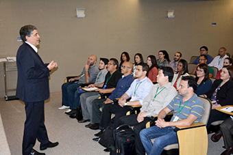 Curso ministrado pelo Secretário Adjunto de Planejamento e Procedimentos do TCU, Marcelo Luiz Souza da Eira