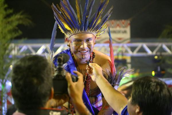 Leonardo foi eleito Mister Indígena 2018 - Foto: Silva Junior / Divulgação