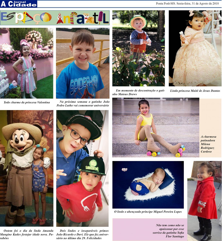 Coluna Espaço Infantil publicado no site Jornal A Cidade todas sexta-feiras