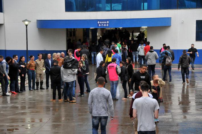 Uniderp foi um dos locais de prova neste domingo - Foto: Valdenir Rezende/Correio do Estado