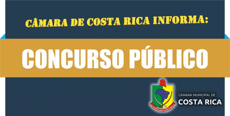 O concurso público da Câmara de Costa Rica será finalizado dentro do cronograma previsto. (Crédito: Divulgação)