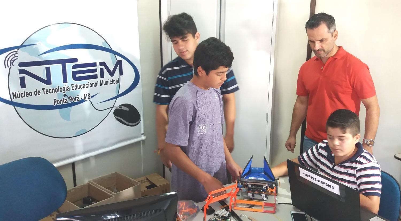 Ponta Porã representa MS no nacional de robótica
