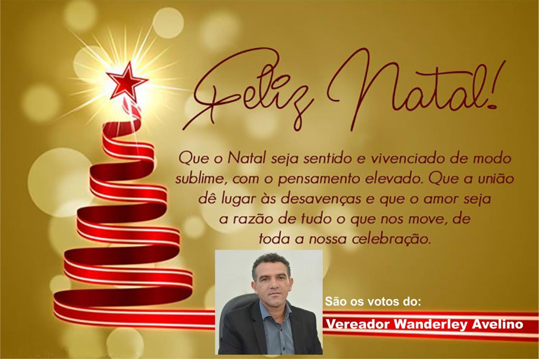 Mensagem de Natal do vereador Wanderley Avelino