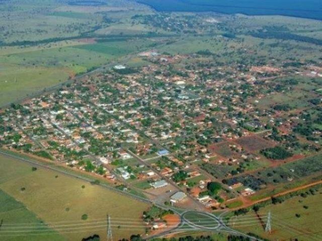 Vista aérea da cidade de Selvíria