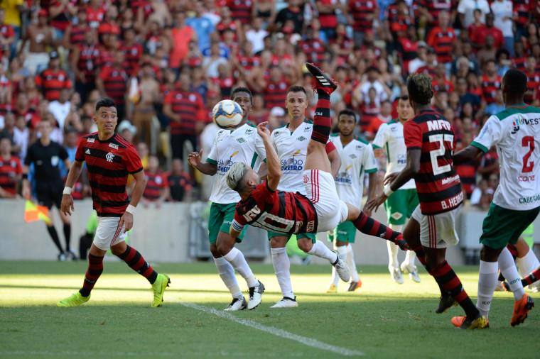 Arão, Diego, De Arrascaeta e Bruno Henrique foram os autores dos gols na vitória por 4 a 0 - Foto: Alexandre Vidal / Flamengo