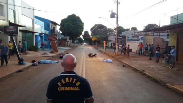 Dois morrem em colisão frontal de motos em Dourados