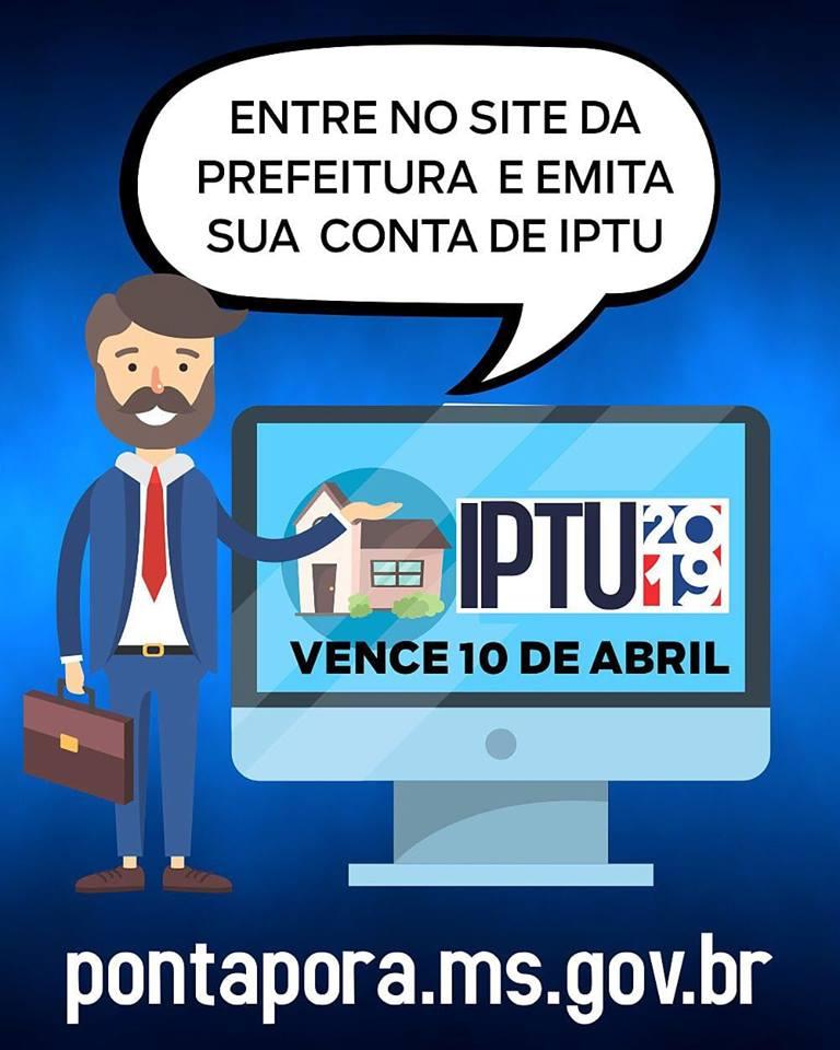 Carnê do IPTU pode ser emitido via on line através do site da prefeitura de Ponta Porã