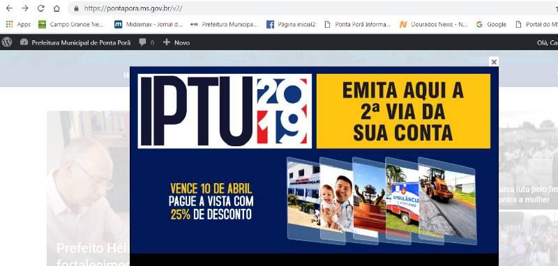 IPTU 2019: carnê pode ser emitido via online