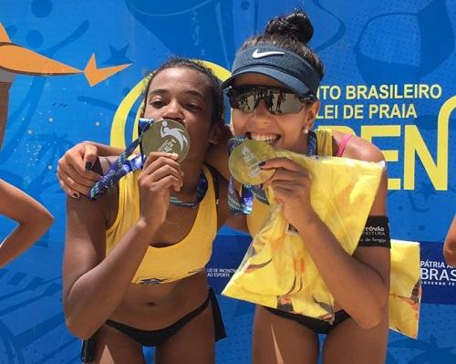Victoria e Aninha abrem temporada sub-21 com medalha de ouro