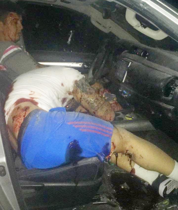 Um das vítimas fuzilado na noite de ontem