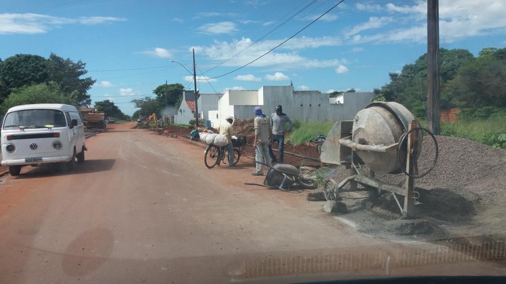 Obras no Jardim Alegrete estão em plena execução pela prefeitura