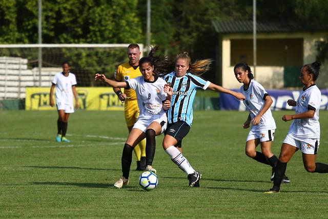 Atletas de MS brigaram pela bola, mas garra não foi suficiente - Foto: Jéssica Maldonado/Grêmio FBPA