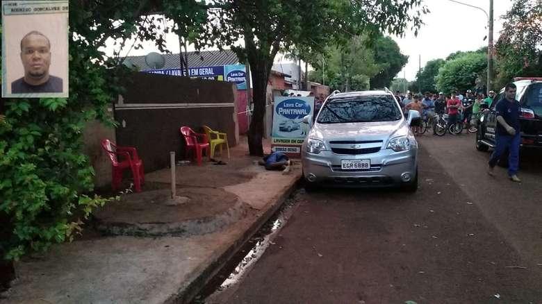 Homem foi assassinado com oito tiros nesta tarde - Crédito: Adilson Domingos