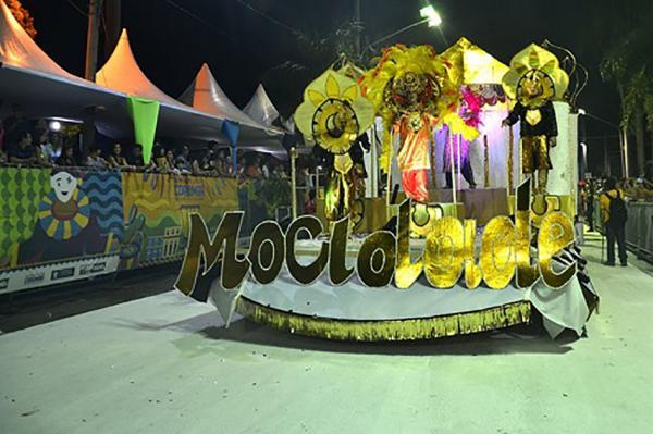 Carro da escola campeã Mocidade Independente da Nova Corumbá - Foto: Gisele Ribeiro/PMC
