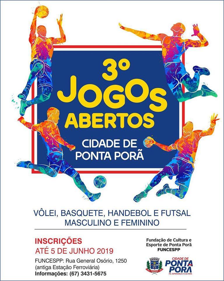 3º Jogos Abertos da Cidade de Ponta Porã