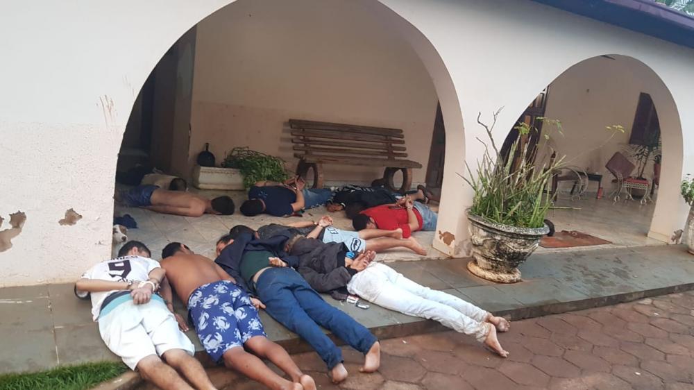 Suspeitos foram presos em fazenda na região de Capitan Bado - Foto: Foto: Divulgação