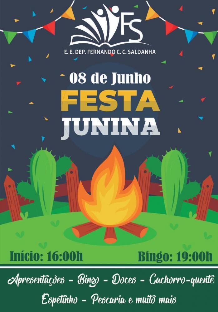 Festa junina da Escola Estadual C. Saldanha