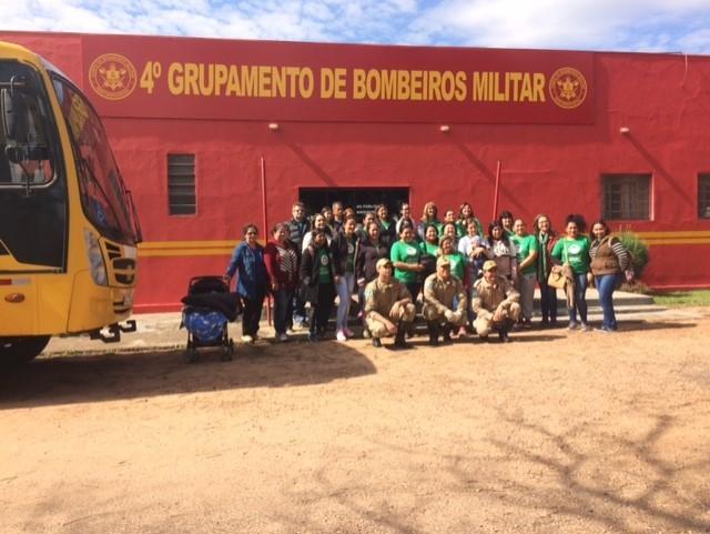 Profuncionário de Ponta Porã promove aula prática no Corpo de Bombeiros