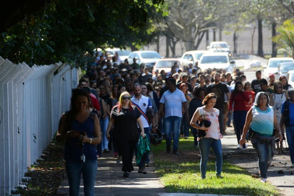 Foi mais um dia de muito protesto na Assembleia - Foto: Bruno Henrique/Correio do Estado