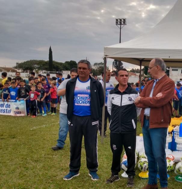 Vereador Wanderley Avelino e o prefeito Hélio Peluffo Filho