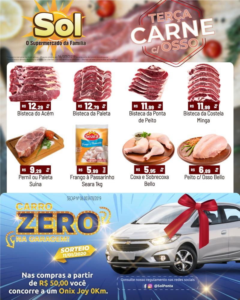 Ofertas da Terça da Carne do Supermercado Sol