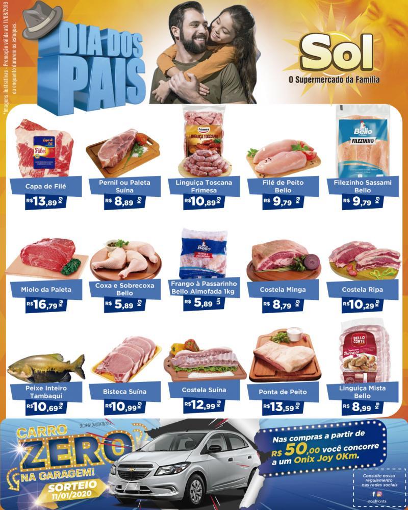 Ofertas do Supermercado Sol para o Dia dos Pais