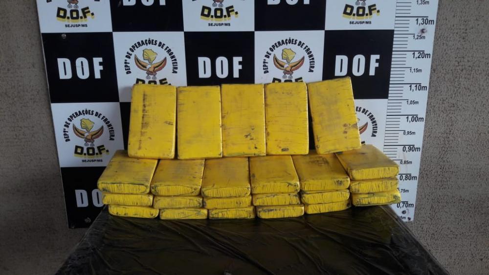 Droga estava dividida em 23 tabletes - Foto: Divulgação / DOF