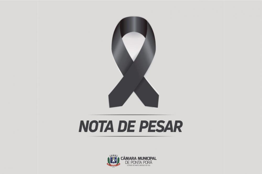 Nota de pesar da Câmara Municipal de Ponta Porã
