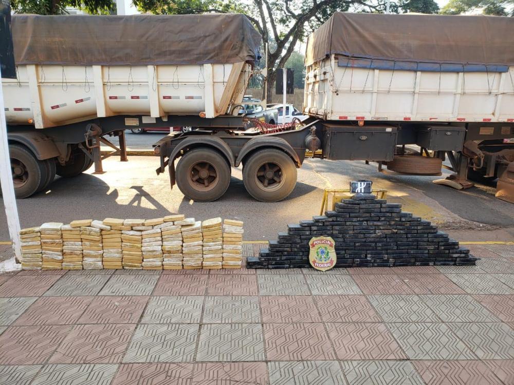 Caminhão carregava 256 quilos de cocaína - Foto: Divulgação / PF