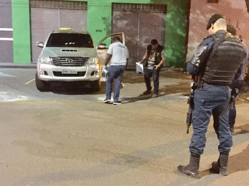 Perítos trabalhavam no local durante a noite - Foto: Foto: Porã News