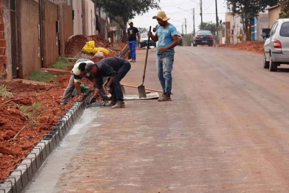 Bairro Residencial Ponta Porã 1 é um canteiro de obras com drenagem e pavimentação