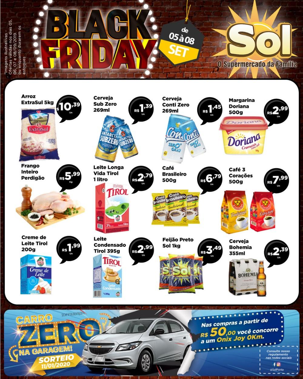 Façam suas compras no Black Friday do Supermercado Sol e concorra a um carro 0Km