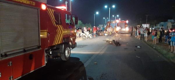 Acidente ocorreu no início da noite em Ponta Porã - Foto: Divulgação