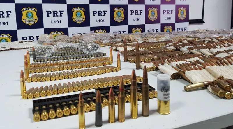 Milhares de munições que saíram de MS foram apreendidas no Rio - Foto: Divulgação / PRF