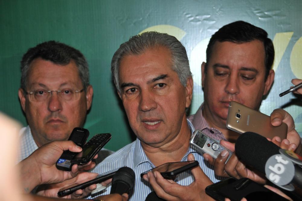 Reinaldo Azambuja disse que solução da fronteira é aumentar policiamento ao redor - Foto: Valdenir Rezende/Correio do Estado