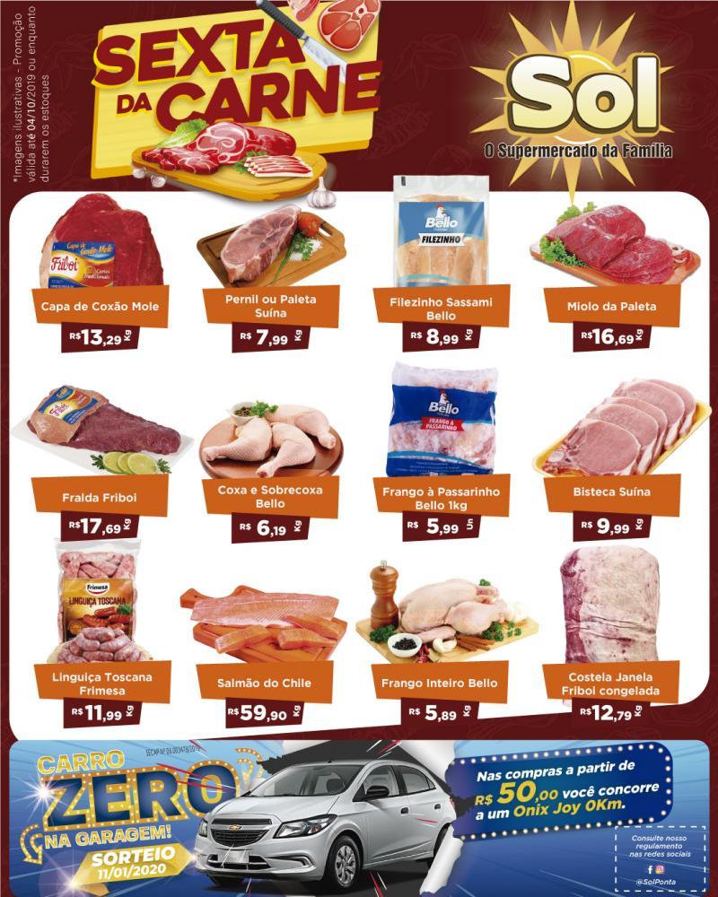 Ofertas do Supermercado Sol desta Sexta da Carne