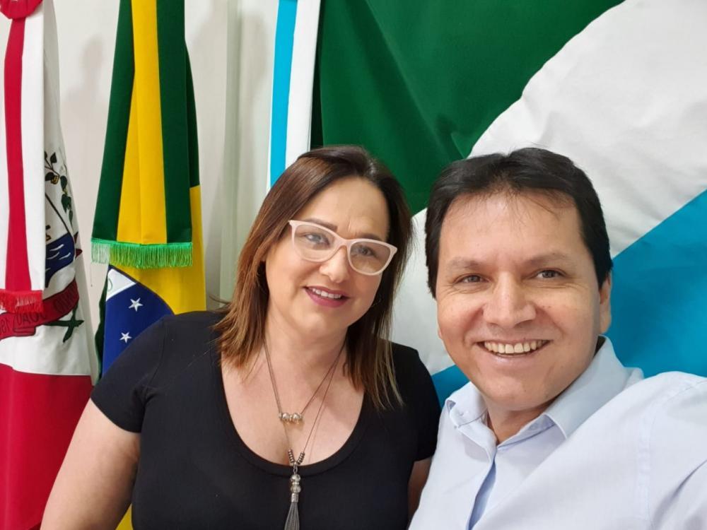 Prefeita Márcia Marques e secretário de Governo, Afrânio Marques