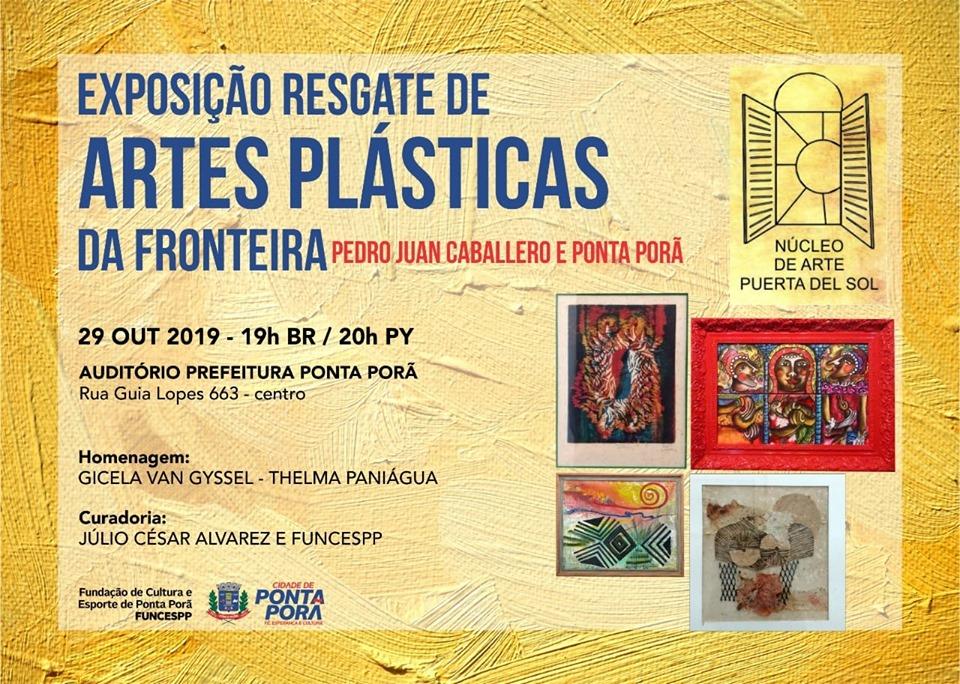 Exposição de Artes Plásticas será aberta nesta terça-feira, dia 29