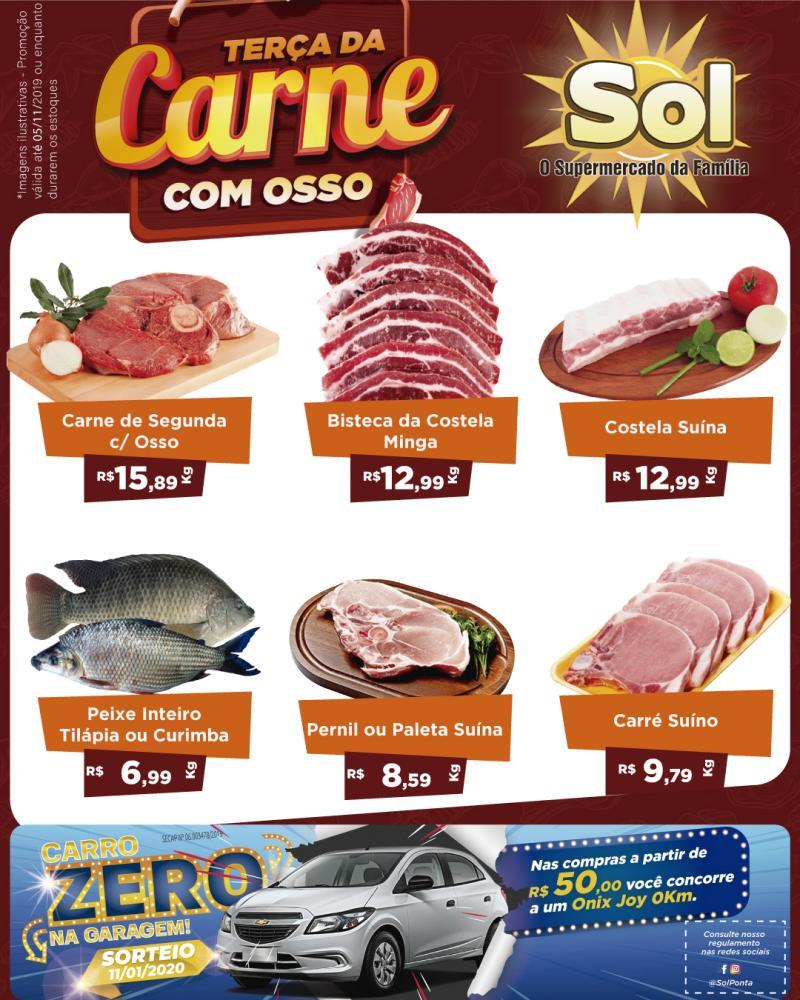 Ofertas da Terça da Carne com Osso e da Padaria