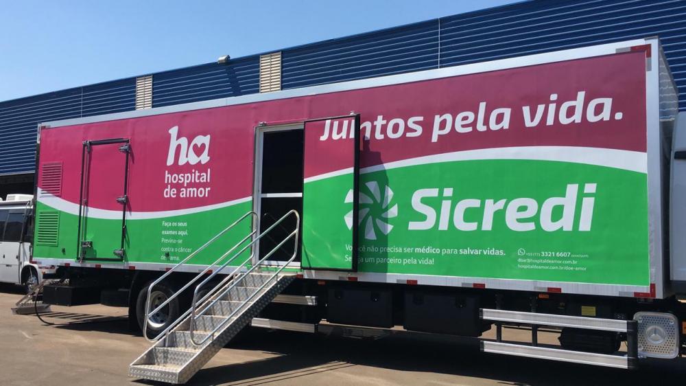 Esta é a primeira unidade móvel do hospital que atenderá a região de Dourados