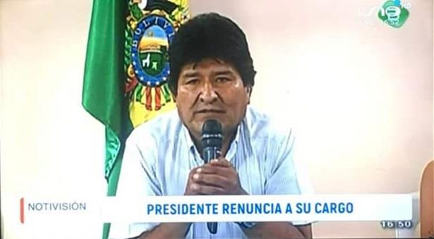 Presidente da Bolívia, Evo Morales anuncia sua renúncia