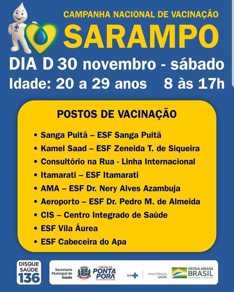 Campanha de imunização acontece nos postos de saúde