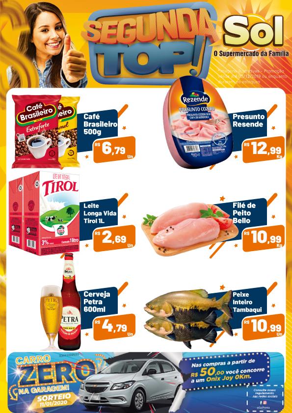 Ofertas da Segunda Top do Supermercado Sol