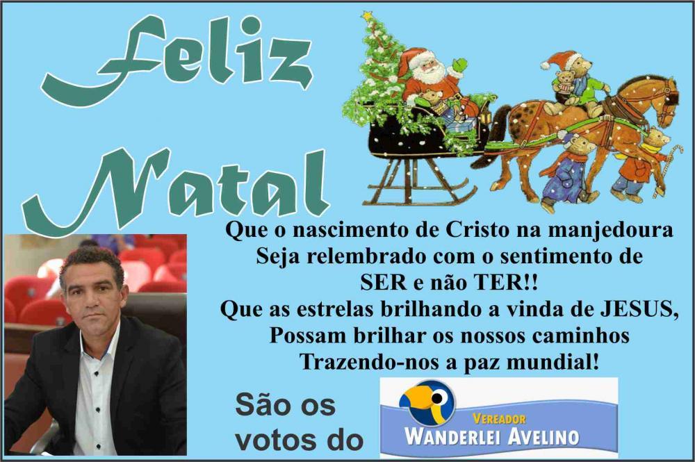 Menagem de Natal do Vereador Wanderley Avelino