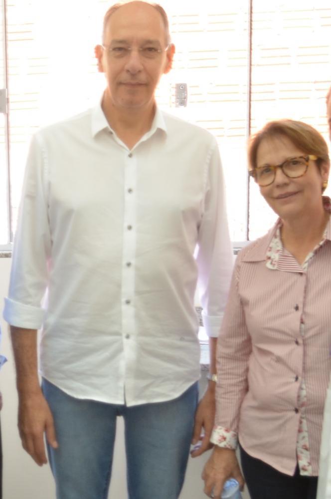 Prefeito Hélio com ministra Tereza Cristina