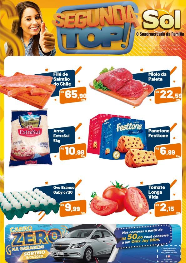 Aproveitem as promoções da Segunda Top do Supermercado Sol