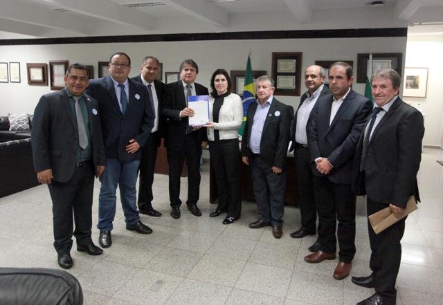 Prefeitos com a senadora Simone Tebet - Foto: Divulgação