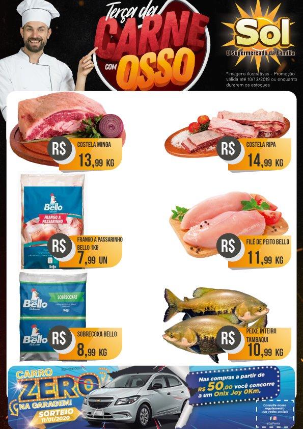 Ofertas da Terça da Carne com Osso no Supermercado Sol