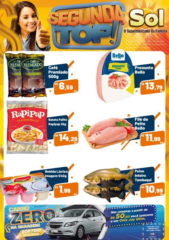 Supermercado Sol e suas promoções desta Segunda Top, aproveitem!!!